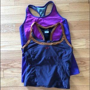 Nike Dri-Fit workout tops XL